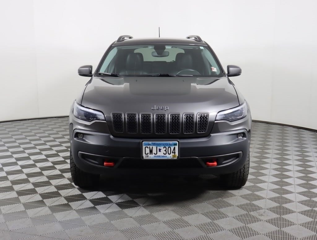 Used 2019 Jeep Cherokee Trailhawk with VIN 1C4PJMBN8KD182845 for sale in Faribault, Minnesota